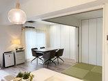 内装リフォーム家具や照明とも相性抜群!白で統一したLDK