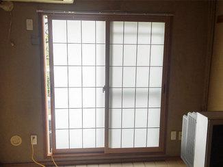 小工事 かんたんに破れず、断熱性も上がった障子風の内窓