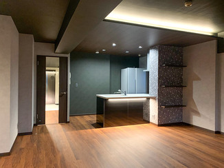 マンションリフォーム 間接照明で非日常感を演出した住空間
